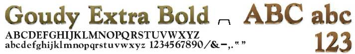 cast bronze letters - Goudy Extra Bold