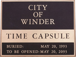 city of winder time capsule