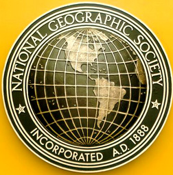 Bronze Plaque Convex Globe - National Geographic Society