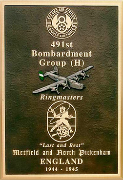 Recognition Plaque - 491st Bombardment Group